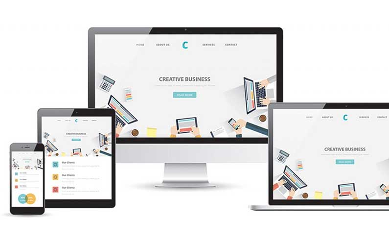 Example of website redesigned