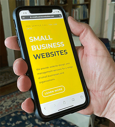 Small Business Websites on an iphone