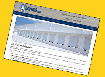 Custom web page design for a dock business